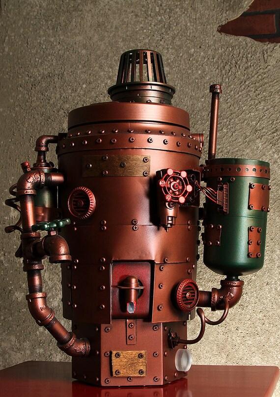 Victorian Steam Light Up Cold Beverage Dispenser