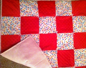 Paws and Dots Baby Quilt
