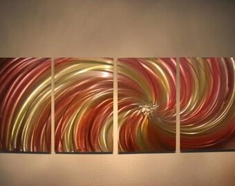 Metal Wall Art Decor Abstract Aluminum Contemporary Modern Sculpture Hanging Zen Textured - Harvest