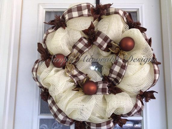 Everyday mesh wreath