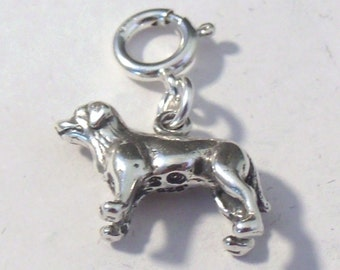 Sterling Silver Labrador Retriever Charm-Fits European and Traditional Charm Bracelets - 1548