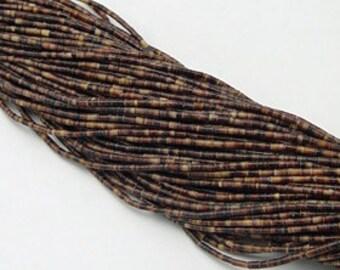 """Dark Penshell Heishi Beads 2-3mm 24"""" Strands Pen shell heishe"""