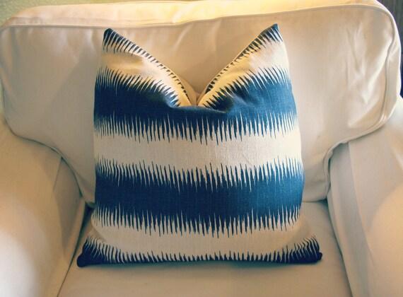 Decorative Pillow Cover 20''x20'', Premier Prints Jiri Nina navy blue and natural