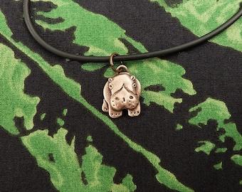 Bronze Hippo Necklace
