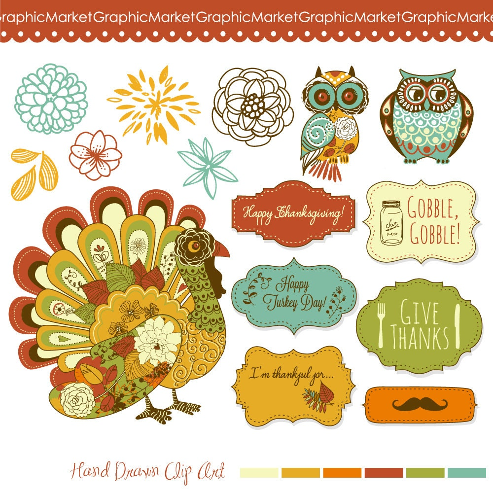 Decorating Ideas > Thanksgiving Clip Art Turkey Fall Clipart Owls Clipart ~ 065415_Thanksgiving Decorations Clipart