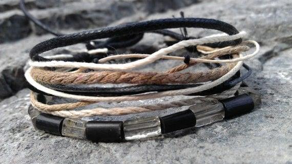 Men's Bracelet - Quartz, Horn, Fiber, Wood - Perfectly Sized