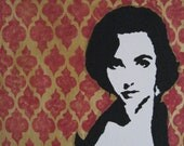 "Elizabeth Taylor Limited Edition Graffiti Style Pop Art 16""x20"" Reserved"