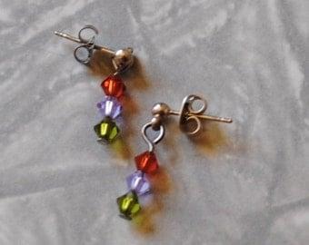 Spring crystals earrings