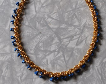 teal twist necklace (#2)