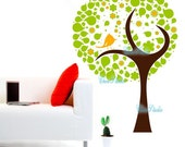 A Bird sit on a tree-Vinyl wall decal for Kid's room-Wall sticker Nursery Decor Tree Decals