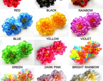 12 silk Peony heads - Artificial Flower - 4 inches - Wholesale Lot - for Wedding Work, Make Hair clips, headbands, hats