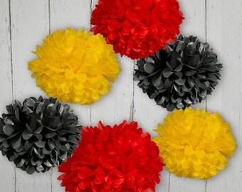 Tissue Paper Pom Poms - Set of 6 - Parties Decor//Birthday's//Classroom Decor//Nursery