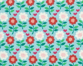 House and Garden Blooming Flowers - Fabric By The Yard - H