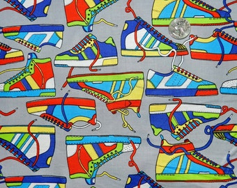 80's Sneakers Retro - Fabric By The Yard