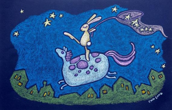 mini canvas art print - catching dreams