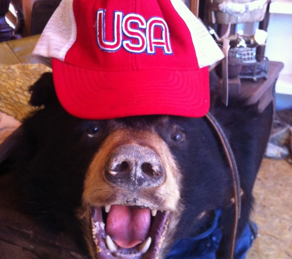 USA Red White and Blue Americana Patriotic Trucker Hat