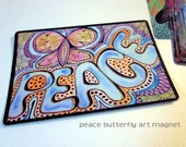 "Art Magnet Peace Butterfly 3.5"" x 5"""