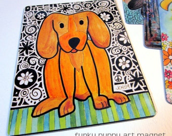 "Art Magnet Funky Puppy 3.5"" x 5"""