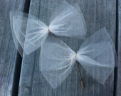 Tulle Double Layer Bow Hair Pin