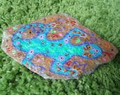 Hand Painted Natural Stone Gecko Southwest Motif