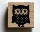 Owl Bird Rubber Stamp