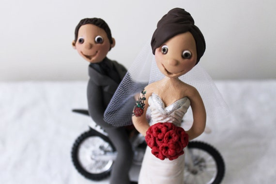 tattooed bride wedding cake toppers items similar to custom wedding cake topper 20756