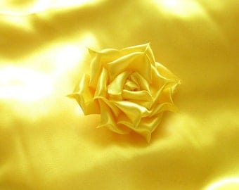 1 yard Yellow Satin Fabric / 1yd x 60 in. / Yellow Satin Fabric By The Yard