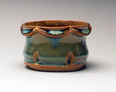 Blue-Green Stoneware Mini Flower Cup (One Cup)