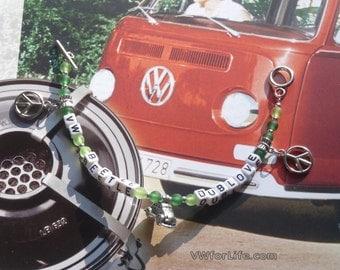 Green VW Beetle Dublove Bracelet