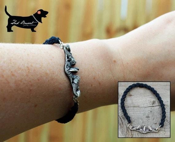 Submarine Dolphin Bootband Bracelet Insignia Jewelry