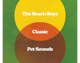 """Classic Music Album Venn Diagram Poster for Pet Sounds - 100% Unofficial (11 x 17"""")"""