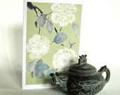 White Camellias Blank 5x7 Greeting Card