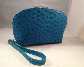Italian Leather Cosmetic Bag  Ladies Accessories 100 % Italian Leather
