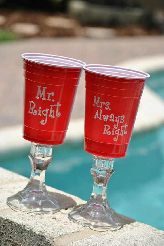 Items Similar To Mr And Mrs Bride And Groom Red Solo Cup