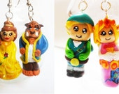 Beauty and the Beast/Link and Zelda Earrings - RESERVED