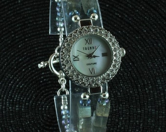 Labradorite and crystal watch