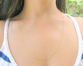 Valentines Day SALE - Long necklace - Long gold necklace - Thin Gold necklace - Dainty necklace - Layered necklace - Silver necklace long