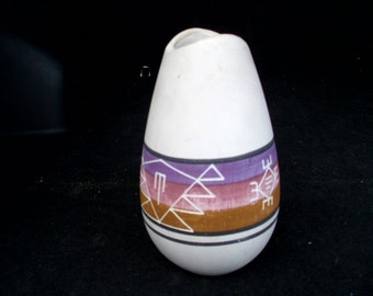 Native American hand painted vase..FREE shipping!!!