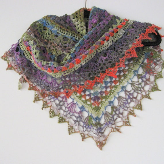 Shawl or scarf.  Light and lacy.  Hand crocheted. Fashion item. Own design. Versatile. Ready to ship.