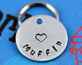 SMALL Dog or Cat Tag - Aluminum Customized Pet Tag - Small Pet ID Tag