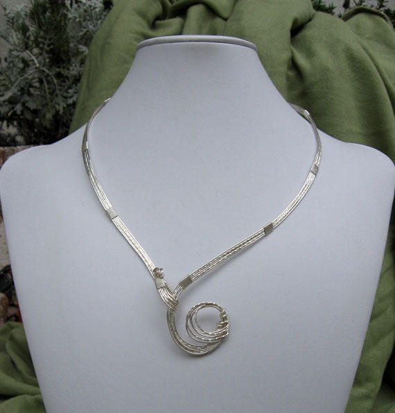 Silver Wire Wrapped Collar