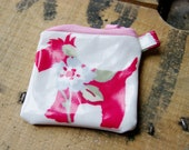 Little oilcloth coin pouch - scotty terrier dog print