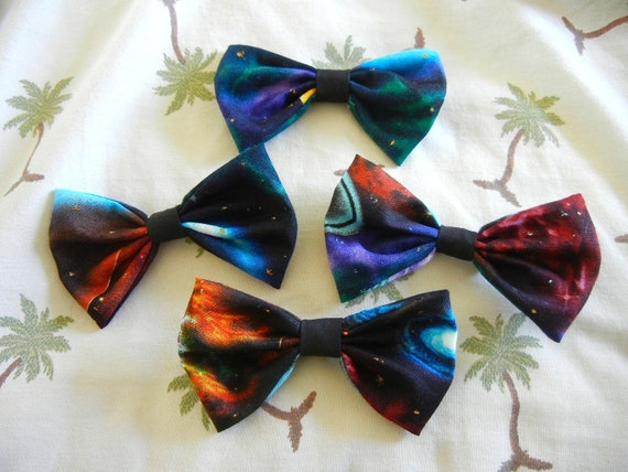 "Galaxy 4"" Bows with Clip"