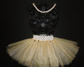 Gold TuTu - Baby Tutu - Infant Tutu - Ballerina - Newborn Tutu - Tutu - Tulle Tutu - Baby Girl Tutu - Baby Tutu