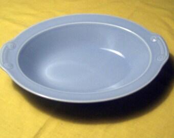 Taylor Smith & Taylor LuRay Pastels  Windsor Blue Pastel Oval Baker Vegetable Bowl