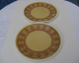"Taylor Smith Taylor Taylorstone Honey Gold Atomic Onion Chop Plates 12 "" Round Platters - 3 available"