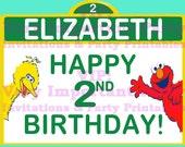 Sesame Street Birthday Party Sign with Elmo & Big Bird - Digital - Special Price