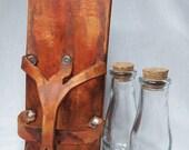 Steampunk Belt Bottle Vial Holder with 2 Bottles
