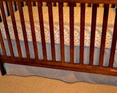 Adjustable Crib Skirt - Custom Made to order, any colors or patterns, Simple, Pleated, Piped Edge