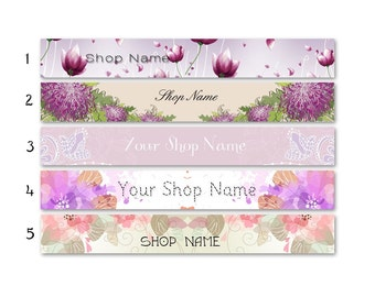 ETSY SHOP BANNERS Tendresse Etsy Shop Banners and Avatars